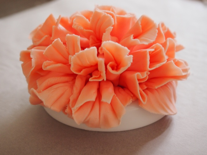 Cake With Fondant Peony : How to Make a Fondant Peony Rose Confessions of a Cake ...