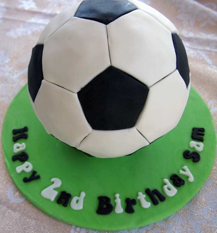 How To Make A Soccer Ball Cake Out Of Cupcakes