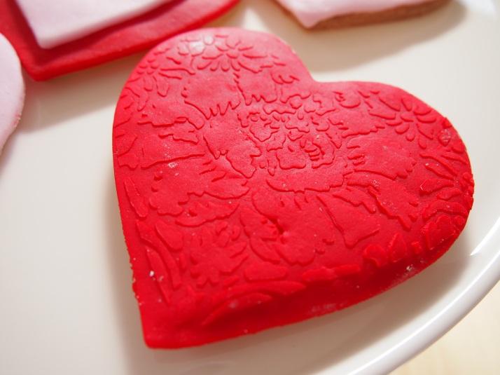 Embossed Heart Biscuit