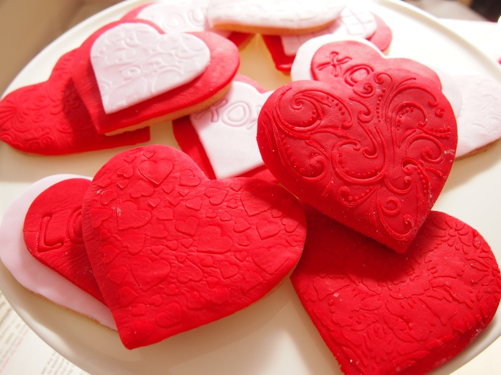Heart Shaped Embossed Biscuits