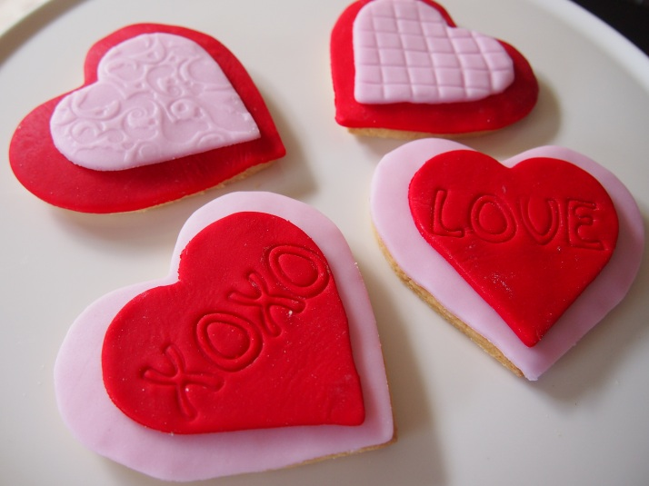 Embossed Love and XOXO Hearts