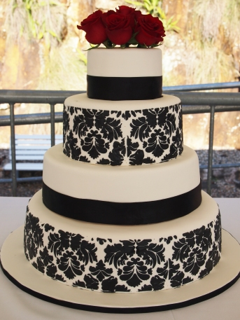 Damask Wedding Cake 1